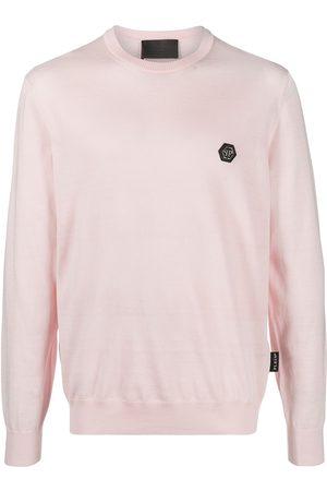 Philipp Plein Heren Sweaters - Logo patch sweatshirt