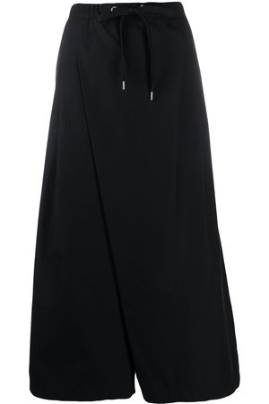 Marni Dames Culottes - Cropped wrap-style palazzo trousers
