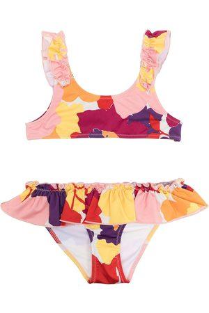 Il gufo Colour-block two piece bikini set