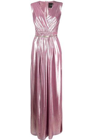 John Richmond Dames Avondjurken - Metallic gathered gown
