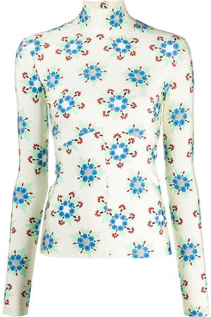 Paco rabanne Floral print turtleneck top