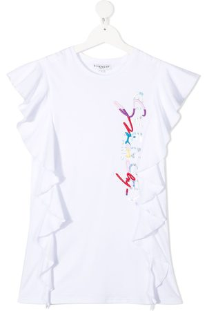 Givenchy Logo-print ruffled dress
