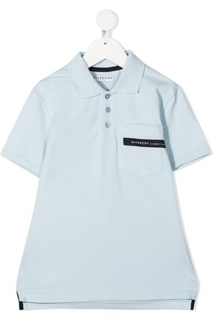 Givenchy Jongens Korte mouw - Logo-tape short-sleeve polo shirt