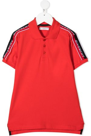Givenchy Logo-tape short-sleeve polo shirt