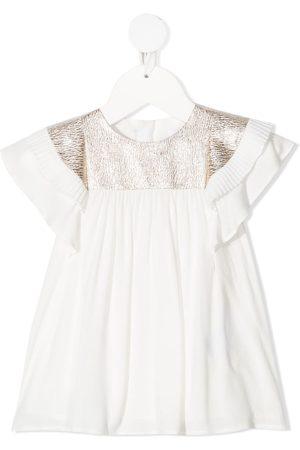 Chloé Metallic-detail short-sleeved dress