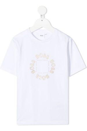 HUGO BOSS Jongens T-shirts - Glittered logo-print T-Shirt