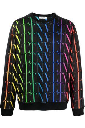 VALENTINO Heren Sweaters - VLTN rainbow crew-neck sweatshirt