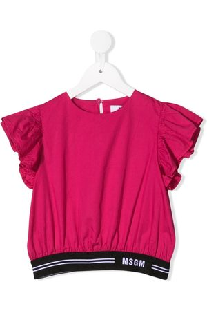 Msgm Ruffle sleeveless top