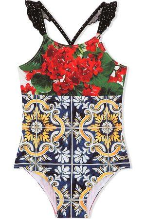 Dolce & Gabbana Meisjes Badpakken - Floral-print swimsuit