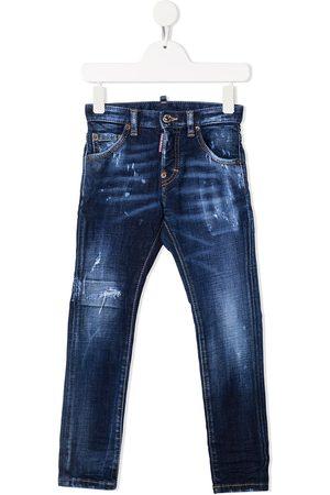 Dsquared2 Distressed-finish denim jeans