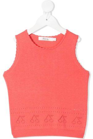 BONPOINT Meisjes Vesten - Knitted perforated cherry vest