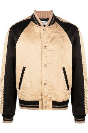 Saint Laurent Diamond pattern bomber jacket
