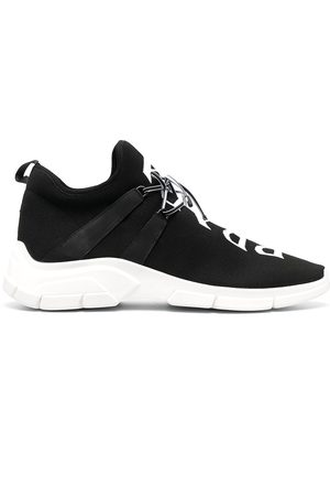 Prada Heren Lage sneakers - Two-tone lace-up sneakers