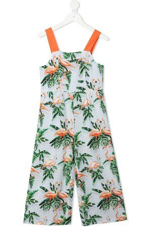 Stella McCartney Meisjes Playsuits - Flamingo pattern sleeveless jumpsuit
