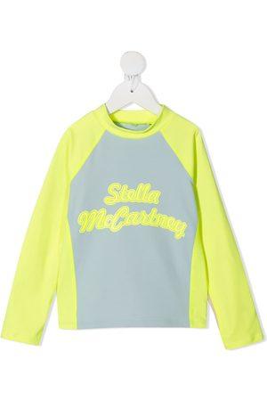 Stella McCartney Jongens T-shirts - Logo-print long-sleeve top