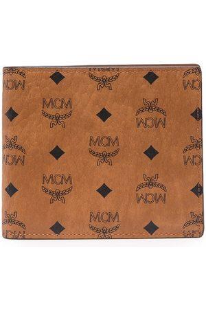 MCM Heren Portemonnees - Faux leather bi-fold wallet