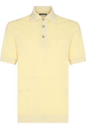 Dolce & Gabbana Heren Poloshirts - Logo-patch polo shirt