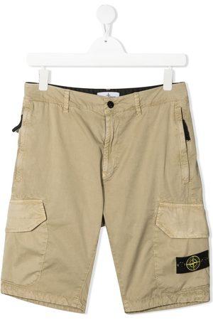 Stone Island Logo cargo shorts