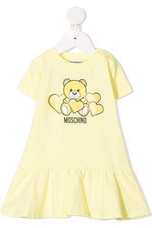 Moschino Bear-print short-sleeved dress