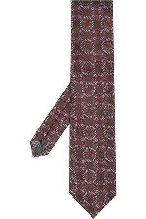Yves Saint Laurent 1990s geometric pattern silk scarf
