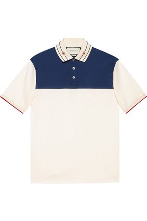 Gucci Embroidered-collar polo shirt