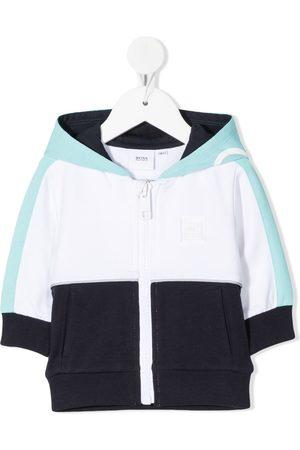 HUGO BOSS Colour-block zipped hoodie