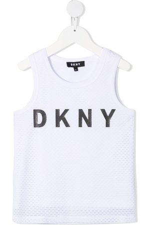 DKNY Logo print sleeveless top
