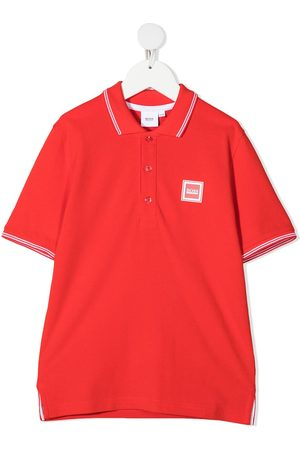 HUGO BOSS Logo-patch polo shirt