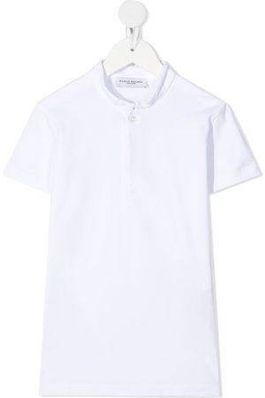 Paolo Pecora Mandarin-collar cotton polo shirt