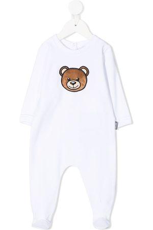 Moschino Teddy bear-patch cotton-blend pajamas