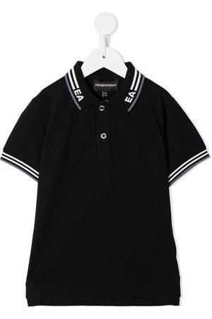 Emporio Armani Intarsia logo polo shirt