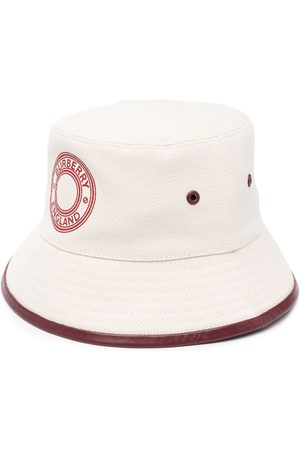 Burberry Dames Buckethat - Logo print bucket hat