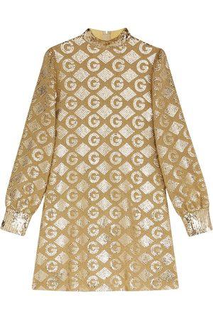Gucci Dames Feestjurken - Lamé G rhombi jacquard dress