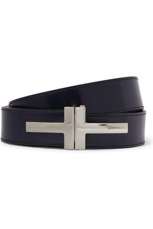 Tom Ford Heren Riemen - 3cm Polished-Leather Belt