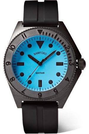 BAMFORD LONDON Heren Horloges - Mayfair Stainless Steel and Rubber Watch