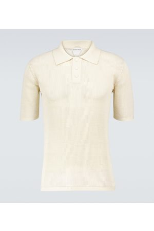 Bottega Veneta Short-sleeved mesh polo shirt