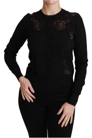 Dolce & Gabbana Dames Sweaters - Cashmere Lace Cardigan Sweater