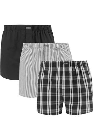 Calvin Klein Boxershorts 3-pack woven classic fit stripe / check / zwart