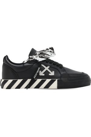 OFF-WHITE New Logo Vulcanized Leather Sneakers
