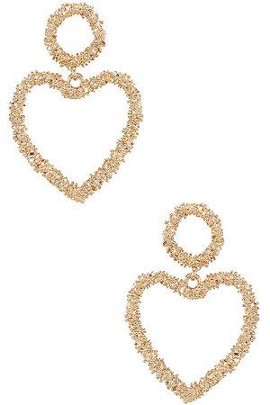 Ettika Heart Drop Earrings in
