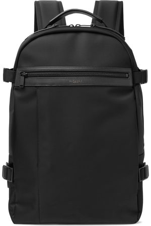 Saint Laurent Heren Rugzakken - City Trekking Leather-Trimmed Shell Backpack