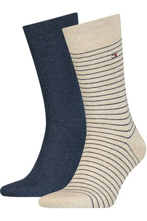 Tommy Hilfiger Heren Ondergoed - Small stripe 2-pack blauw & beige II
