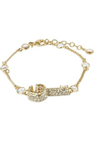 Gucci Double G Key Bracelet W/ Crystals