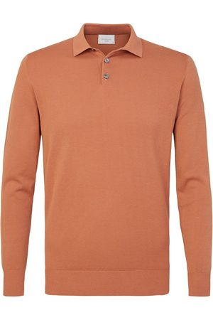 Profuomo Heren roest lange mouw polo