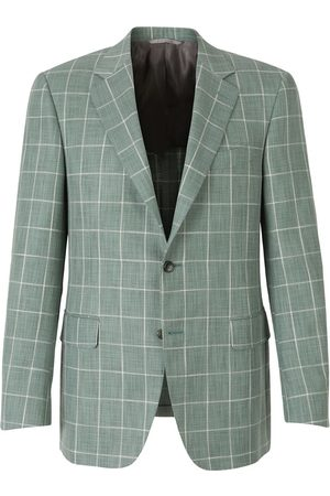CANALI Two-Button Checked Blazer