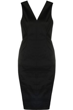 Rick Owens Fitted exposed-seam V-neck dress