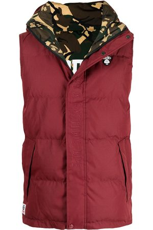 AAPE BY *A BATHING APE® Heren Bodywarmers - Embroidered logo padded gilet