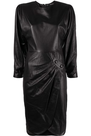 Isabel Marant Dames Feestjurken - Pleat-detail long-sleeve dress