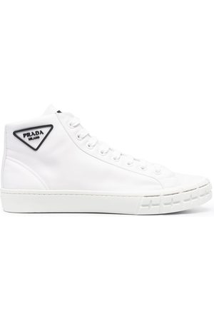 Prada Wheel Cassetta high-top sneakers