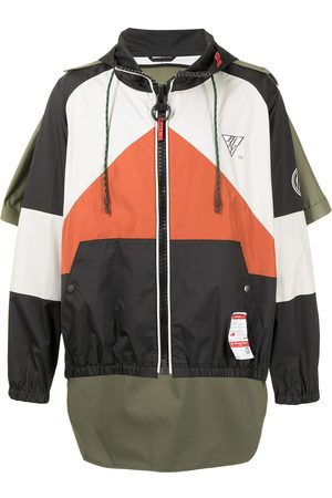 Maison Mihara Yasuhiro Colour-block hooded jacket